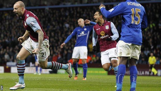 Prediksi skor Aston Villa Vs Leicester 17 Januari 2016
